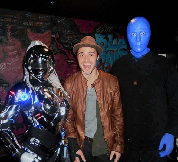 """""""American Idol"""" Star Kris Allen Spotted at Blue Man Group in Monte Carlo Resort and Casino"""