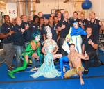 US Rugby Team backstage at Mystère by Cirque du Soleil at Treasure Island Las Vegas