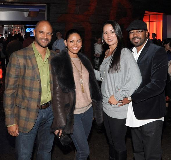Dondre Whitfield (far left), Salli Richardson-Whitfield (2nd from left), Inny Clemons (far right) and his wife at KÀ by Cirque du Soleil at MGM Grand