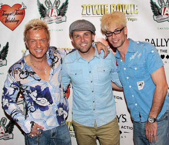 Zowie Bowie, Chris Cauley and Murray SawChuck at Bally's