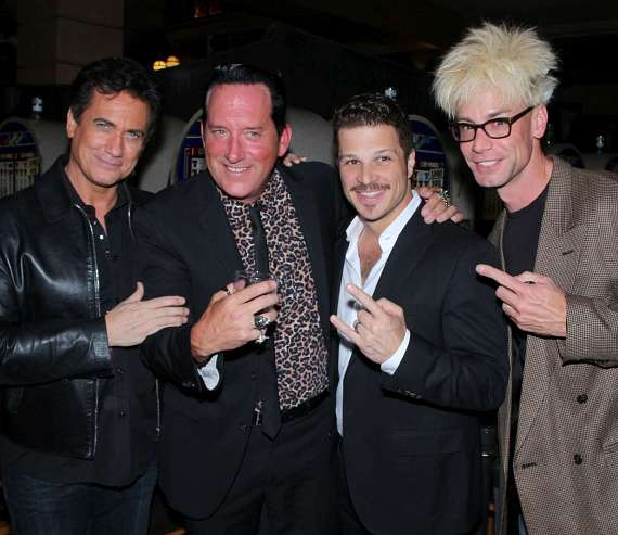 Gordie Brown, Anthony Cools, Mark Shunock and Murray SawChuck