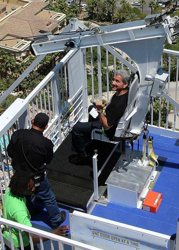 Bruce Buffer Rides the VooDoo Zip Line to Celebrate the Grand Opening of Las Vegas' Newest Attraction