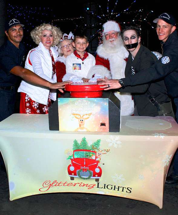 Glittering Lights at Las Vegas Motor Speedway Launches 2017 Season with the Help of Tape Face and Las Vegas Fire Department