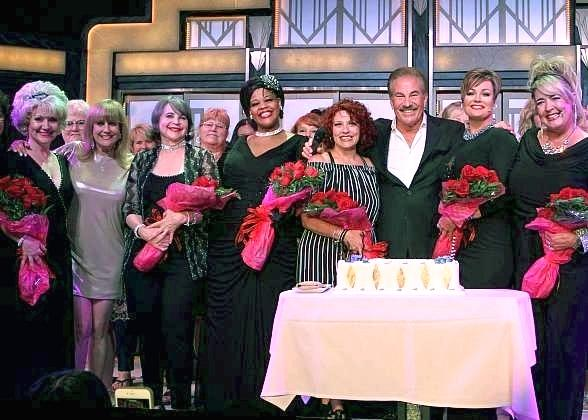 Cast and crew of Menopause at 5000th Show Celebration