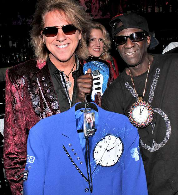 Starr of RockStarr Designs with Flavor Flav at Club 172 at The Rio Las Vegas