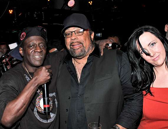 Flavor Flav with Frank DiMaggio and Valerie Brooks at Club 172 at The Rio Las Vegas