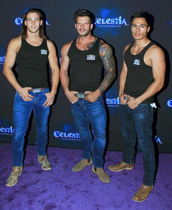Cast of Thunder From Down Under at Celestia Grand Opening