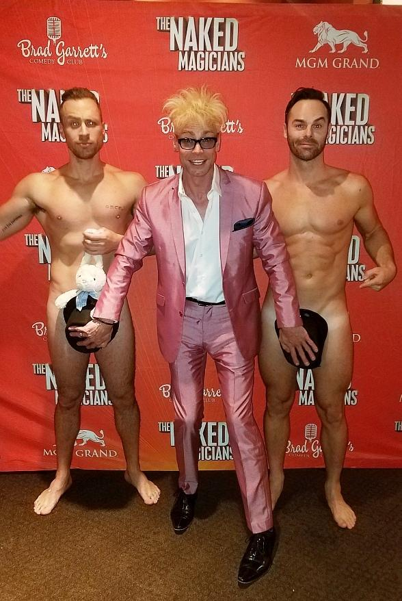 "Murray SawChuck Visits ""The Naked Magicians"" at Brad Garrett's Comedy Club in MGM Grand Las Vegas"
