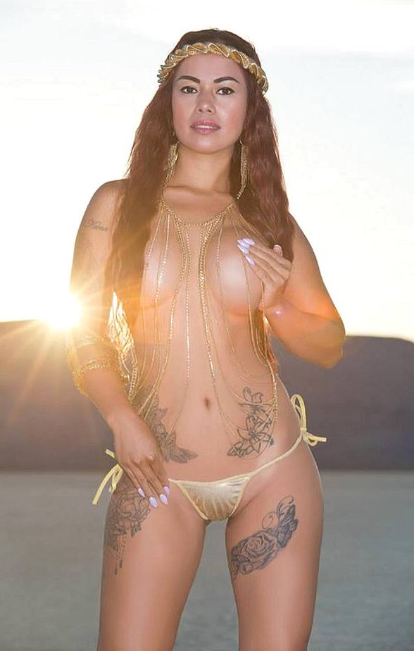 Model Dancer Dixie Miranda's Desert Photo Shoot at Sunset