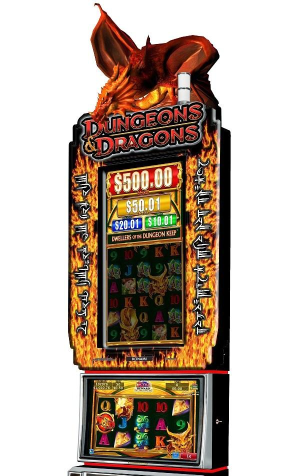 """Konami Releases New """"Dungeons & Dragons"""" Video Slot Games with Dungeon Maze and Monster Battle Bonuses"""