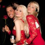 Josh Strickland, Holly Madison and Angel Porrino at Tryst