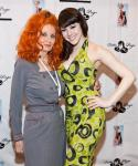 Tempest Storm and Claire Sinclair at Bettie Page Clothing at MAGIC