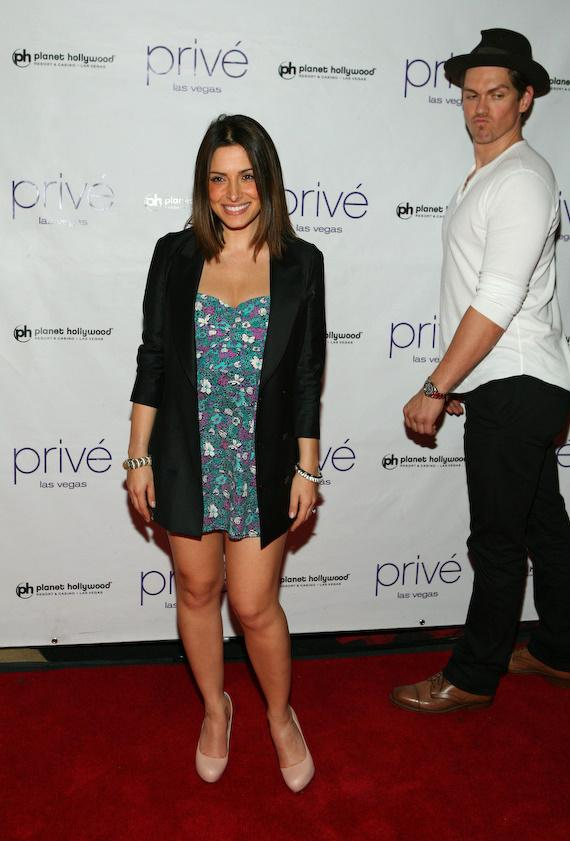 Sarah Shahi and Steve Howey at Privé