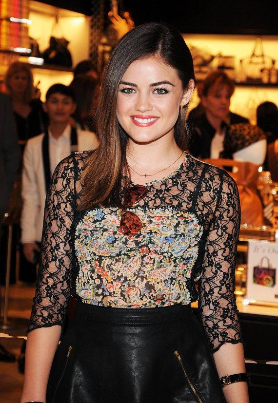 Actress Lucy Hale at new Henri Bendel store at Fashion Show, Las Vegas