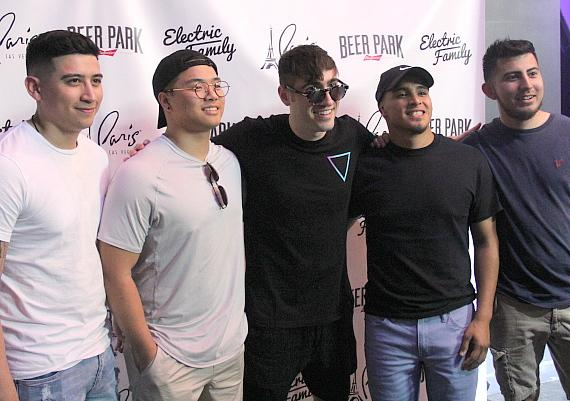 3LAU posing with fans at Beer Park in Las Vegas