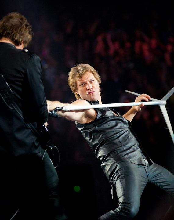 Bon Jovi performs at the MGM Grand Garden Arena in Las Vegas