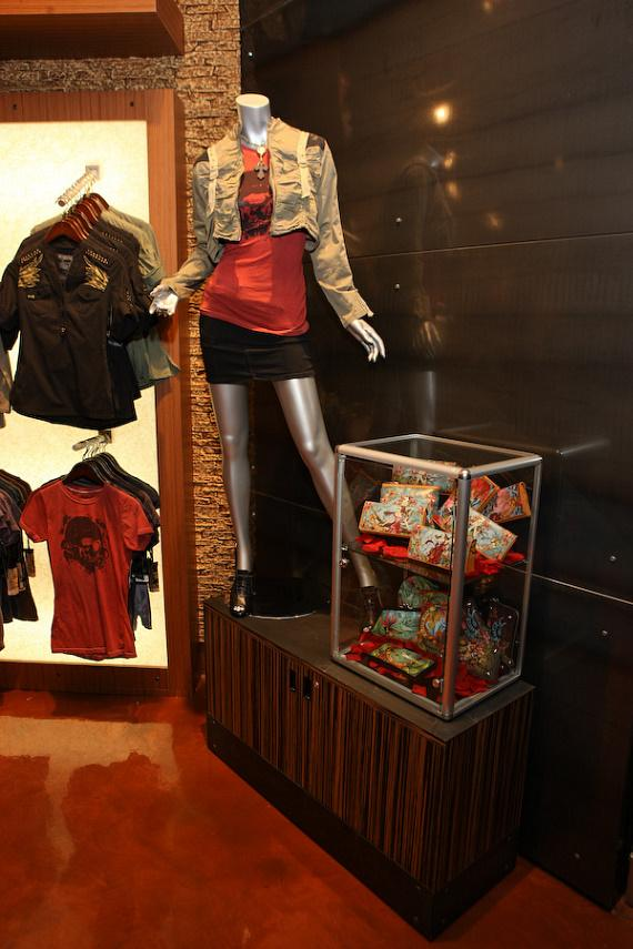 Clothing and other merchandise available at Club Tattoo