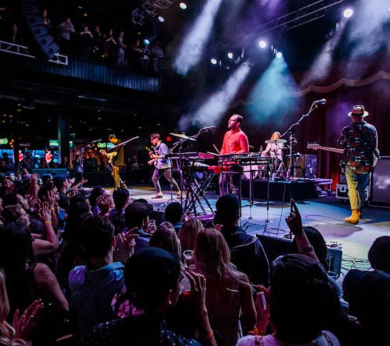 Local Natives Perform at Brooklyn Bowl Las Vegas at The LINQ in Las Vegas