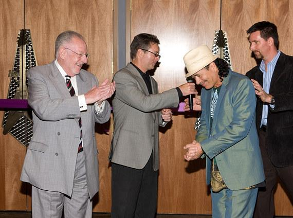 Oscar Goodman and Randy Kwasniewski, Carlos Santana and Paul Davis