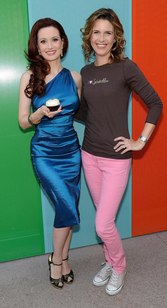 Holly Madison with Sprinkles founder Candace Nelson