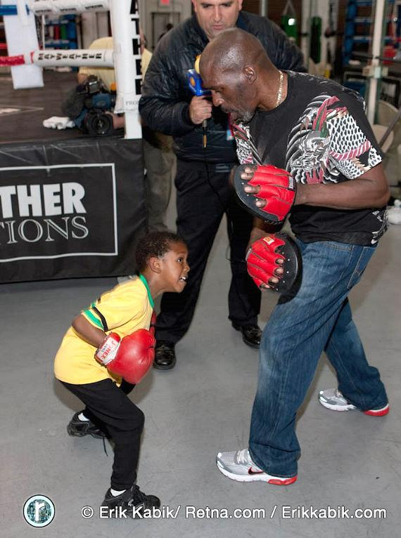 5 year old LehKei Mayweather and his father Roger Mayweather