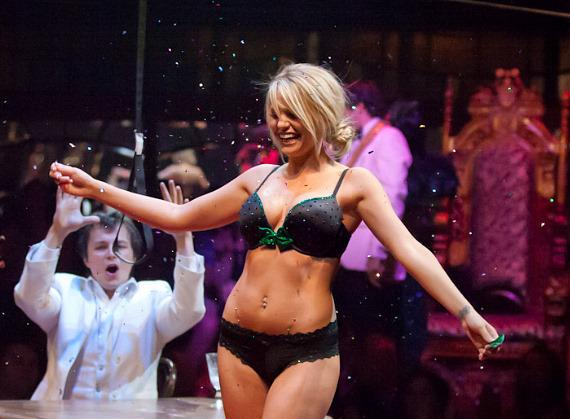 Angel Porrino performs in ABSINTHE at Caesars Palace