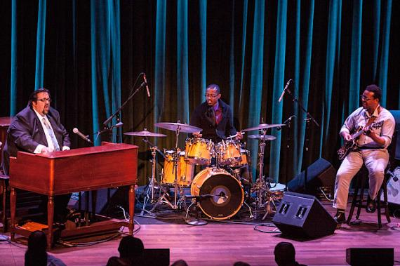 The Joey DeFrancesco Trio performs at Cabaret Jazz at The Smith Center for Performing Arts in Las Vegas