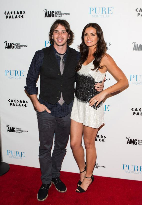 "Ben Flajnik and Courtney Robertson of ""The Bachelor"" arrive at PURE Nightclub"