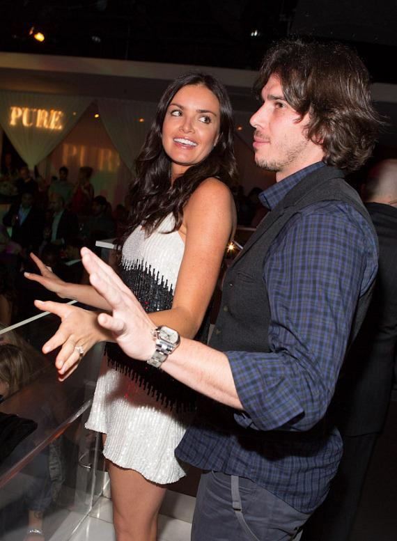 "Ben Flajnik and Courtney Robertson of ""The Bachelor"" at PURE Nightclub"