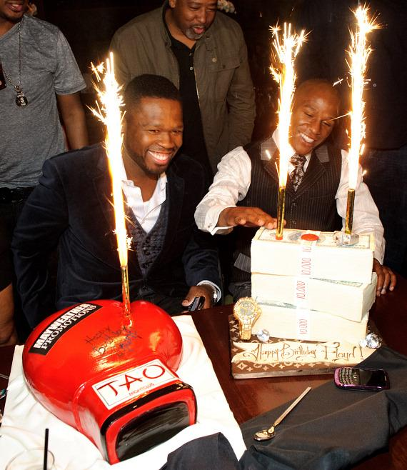 50 Cent and Floyd Mayweather at TAO Las Vegas
