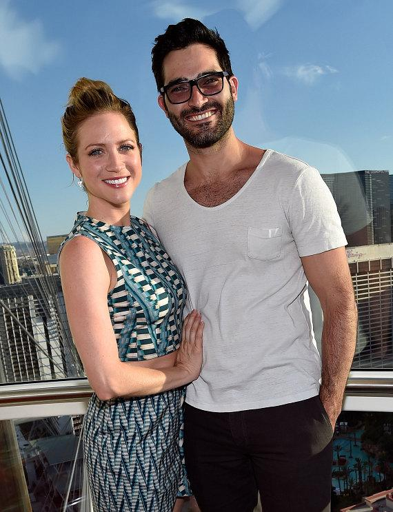 Brittany Snow and boyfriend Tyler Hoechlin on the High Roller