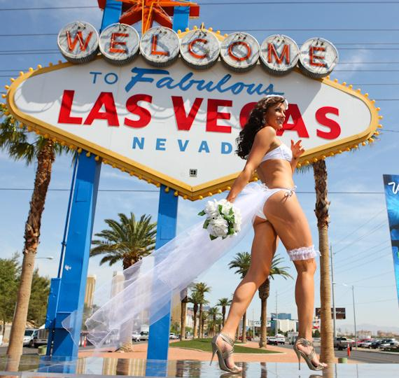 Fashion show at 50th Anniversary of 'Welcome to Las Vegas' Sign