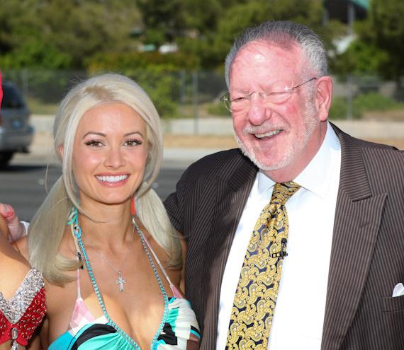 Mayor Oscar Goodman and Holly Madison at 50th Anniversary of 'Welcome to Las Vegas' Sign