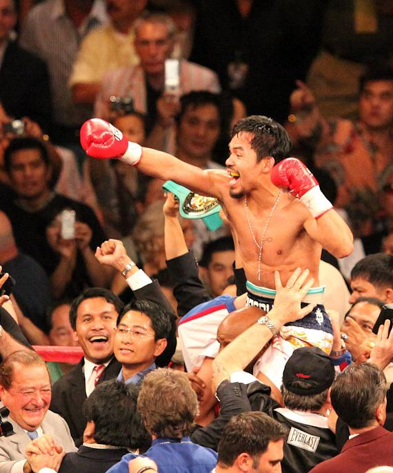 Manny Pacquiao after his two-round knockout of Ricky Hatton