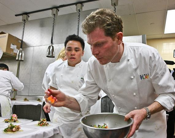 Bobby Flay in his kitchen at the MESA Grill