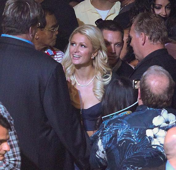 Paris Hilton at ringside