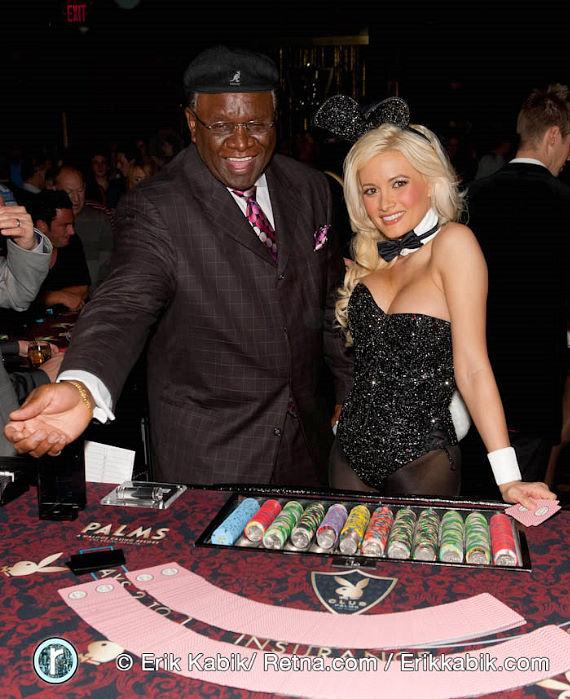 Holly Madison with George Wallace at Playboy Club