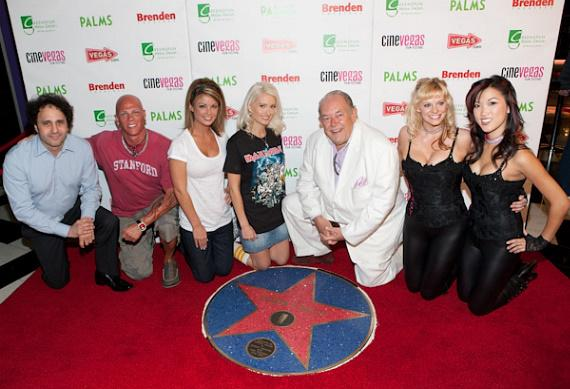 George Maloof, Johnny Brenden, Laura Croft, Holly Madison, Robin Leach and friends