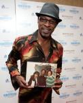 Skip Martin of Kool and the Gang (with a signed photo of Skip, Smokey and Rick James)