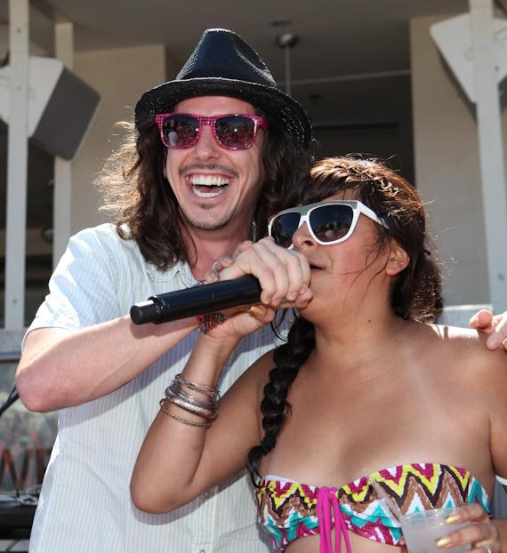 Cisco Adler and fan at Wet Republic