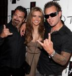 """Audrina Patridge of """"The Hills"""" with father Mark and brother Mark Jr."""