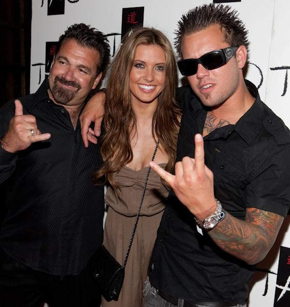 "Audrina Patridge of ""The Hills"" with father Mark and brother Mark Jr."