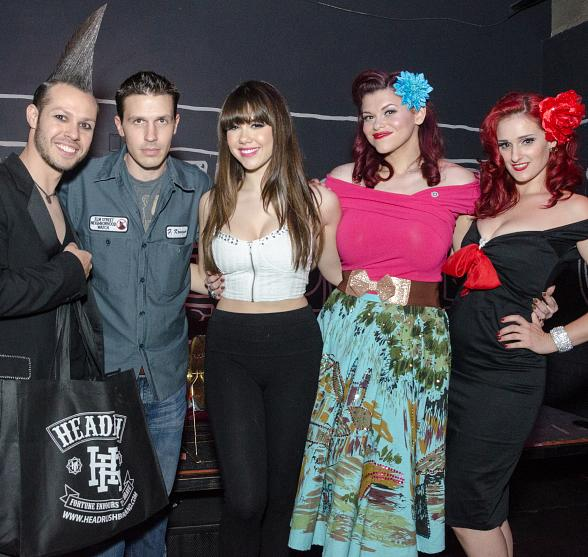 Radiant Inc owner Andrew Parker, Fright Dome owner Jason Egan, Claire Sinclair and Pinups for Patriots Nevada representatives Sarah Vamp and Darby Fox