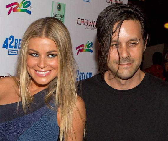 Carmen Electra and fiance Rob Patterson of KORN