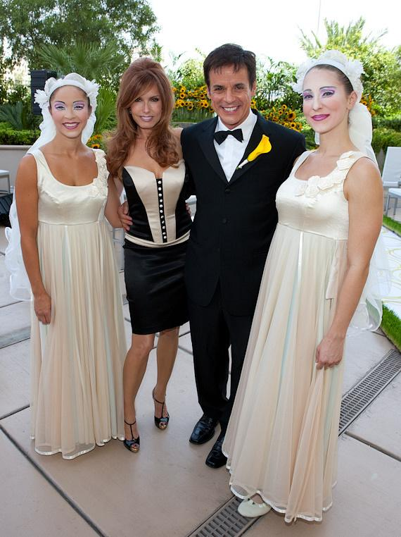Christian LeBlanc and Tracey E. Bregman with wedding party
