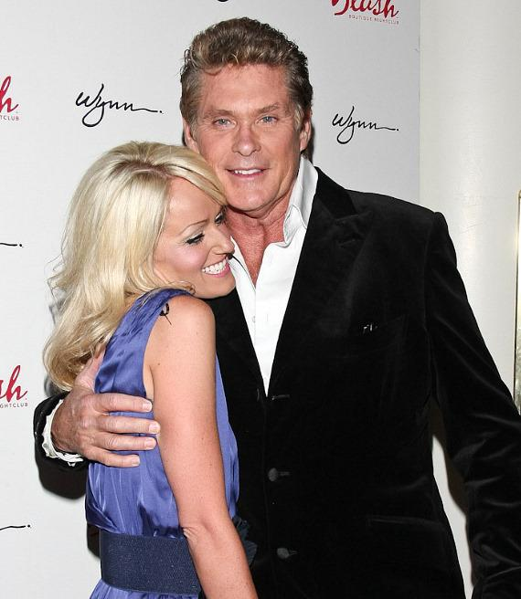 David Hasselhoff celebrates his birthday with girlfriend Hayley Roberts at Blush Boutique Nightclub