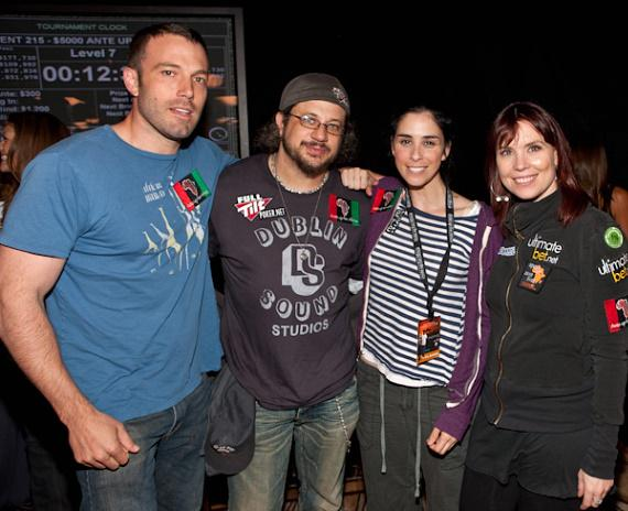 Ben Affleck, Joe Reitman, Sarah Silverman and Annie Duke