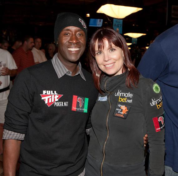 Don Cheadle and Annie Duke, hosts of tournament