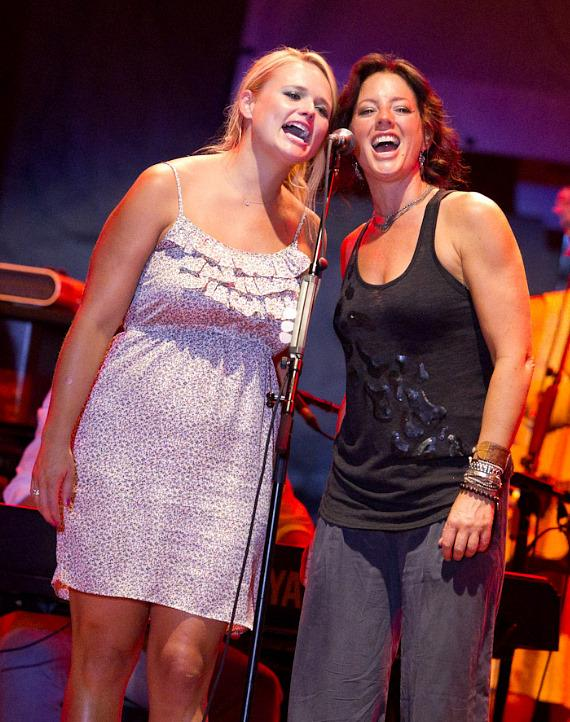 Miranda Lambert and Sarah McLachlan at Lilith Fair 2010