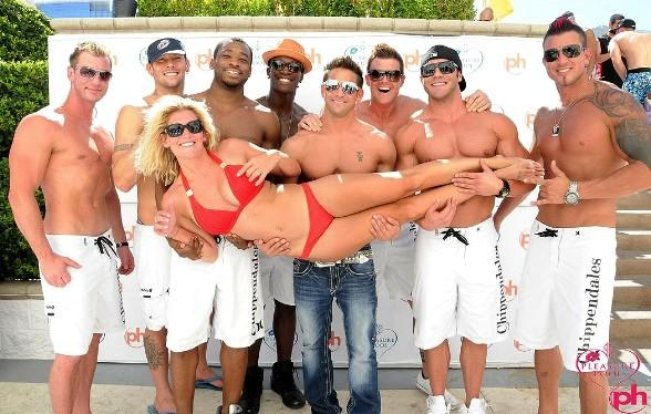 Chippendals Host 11th Summer 2011 Bikini Contest at Planet Hollywood's Pleasure Pool